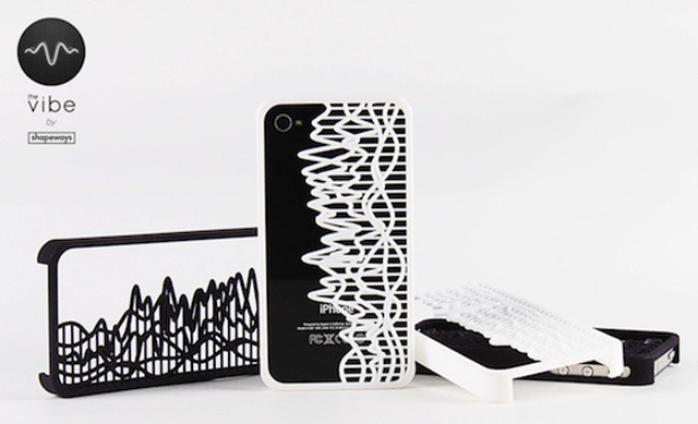Make a custom iPhone case showing any sound wave you like, frozen in time
