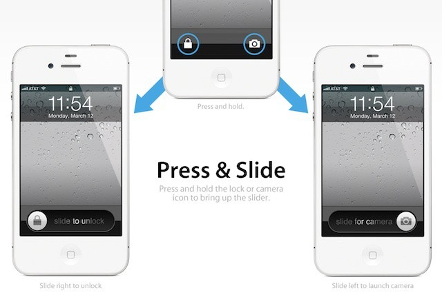 Bryces Idea Puts Both The Camera Unlock And IPhone On Same Horizontal Plane To Jump From Lockscreen Users Simply Press