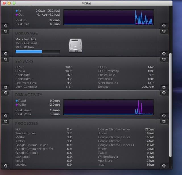 Keep A Stylish Eye On Your Mac's Vitals With miStat [OS X