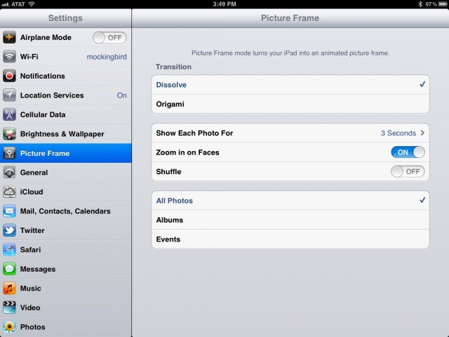 Change Up Your iPad Picture Frame Slideshow Settings [iOS Tips ...