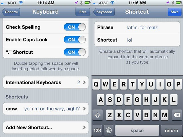 Change Stupid OMW iMessage Shortcut, Add Others [iOS Tips] | Cult of Mac