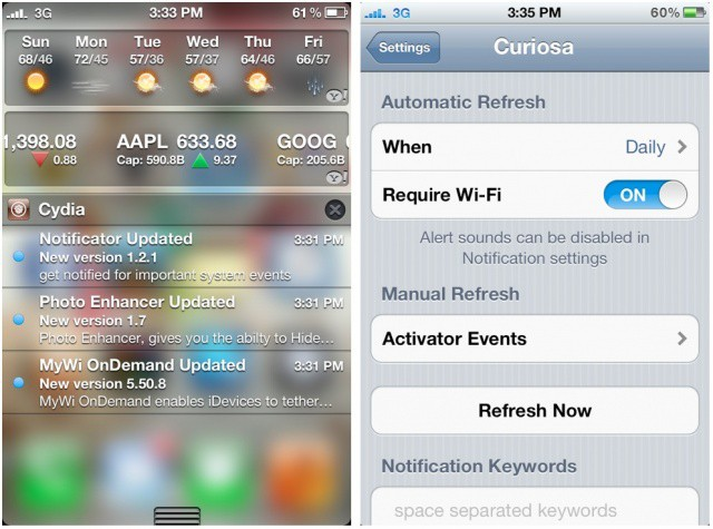 How To Check For Cydia Updates In The iOS 5 Notification Center