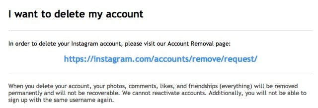 How To Delete Your Instagram Account Cult Of Mac