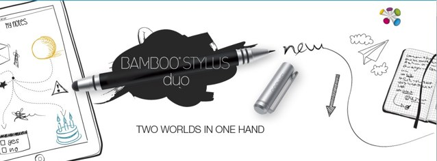 Wacom's terrific Bamboo stylus now comes with a built-in ballpoint for traditional note-taking.