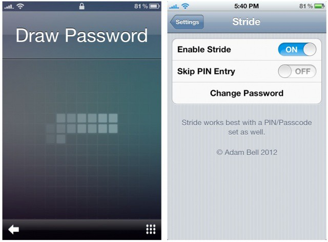 Stride Lets You Unlock Your iOS Lock Screen With A