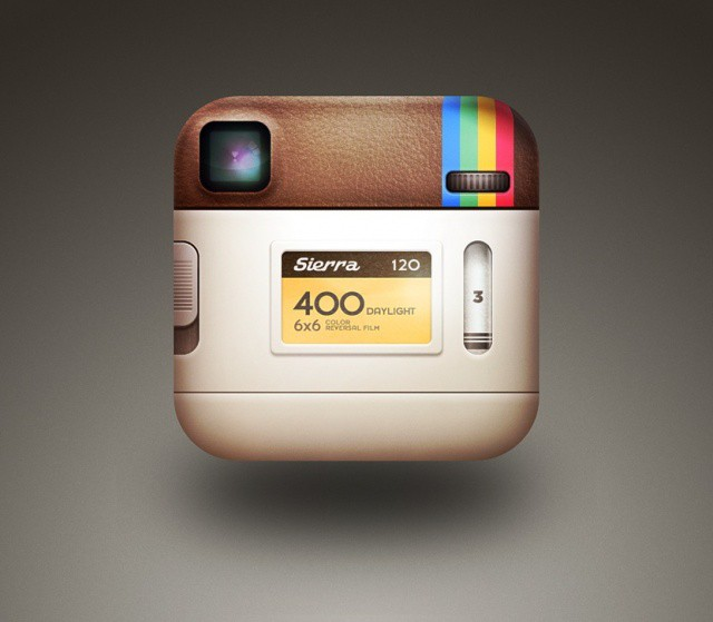 Back of Instagram icon