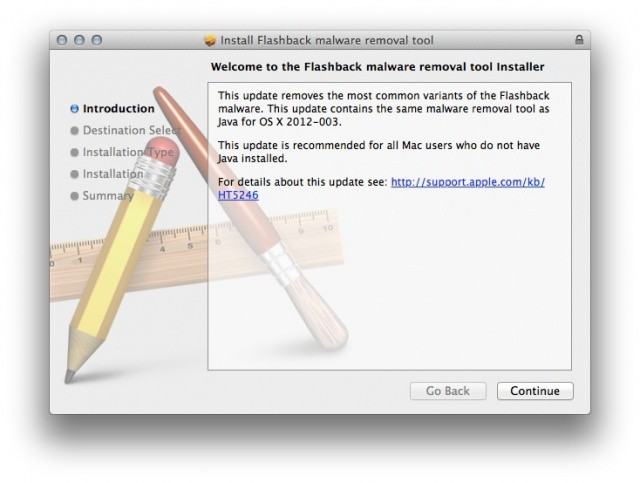 Apple's newest tool nukes Flashback on your Java-less Mac.