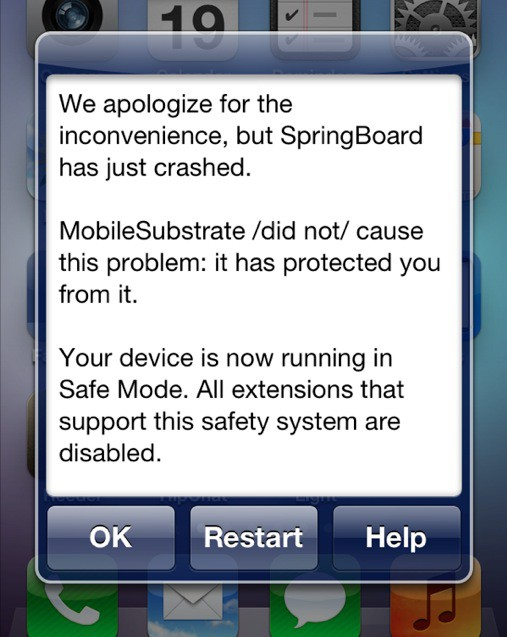 Seeing this message a lot on your jailbroken iOS device?
