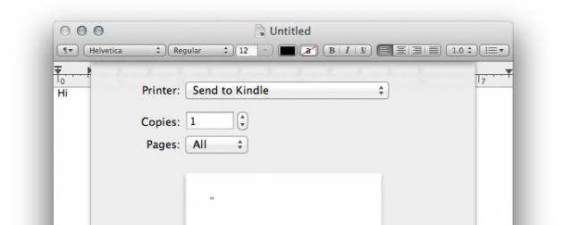 Amazon Releases Free Mac App For Sending Documents To Kindle