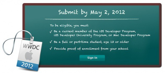 Can't afford a ticket to WWDC? Win a scholarship instead.
