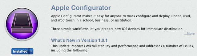 Apple releases its first update to its Apple Configurator iOS management app