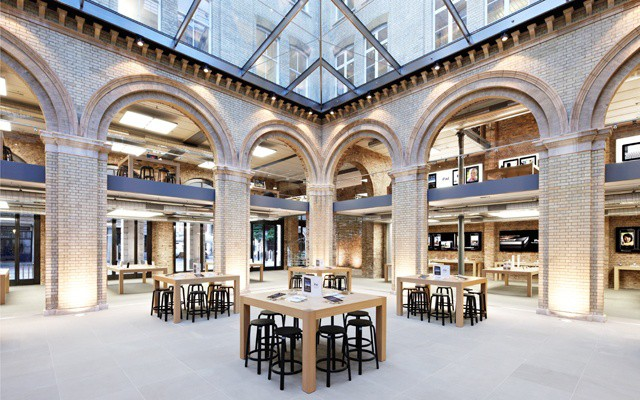 Apple's stunning Covent Garden store will be one of the many London stores making provisions for international journalists.