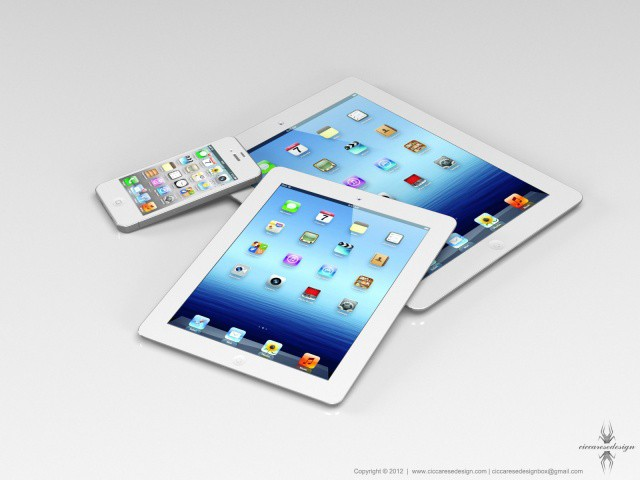 What the iPad mini may look like up against its siblings.