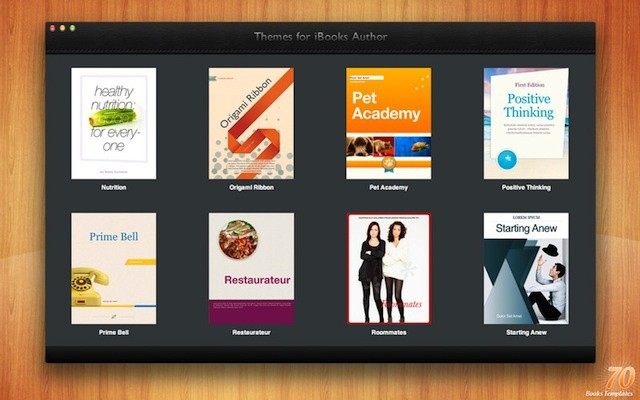 Samples from Themes for iBooks Author