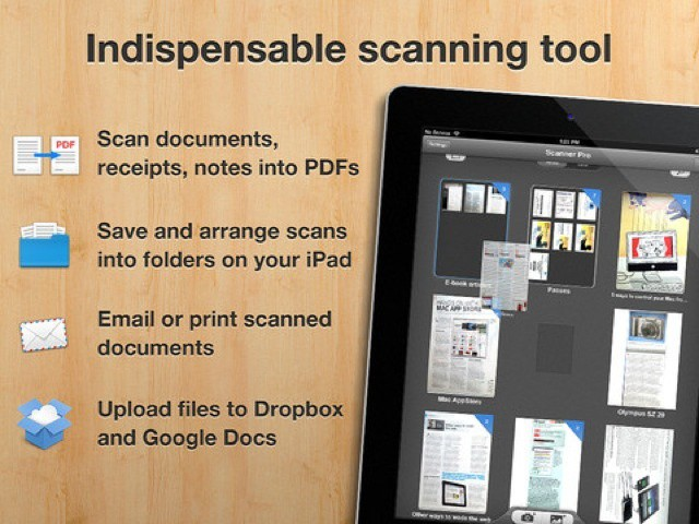 Scan, print and fax, all from your new iPad