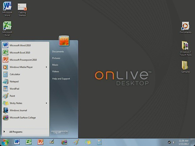OnLive Desktop goes from Windows 7 to Windows Server iPad/Android app