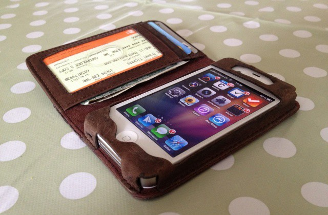 The BookBook is the best wallet case there is for the iPhone.