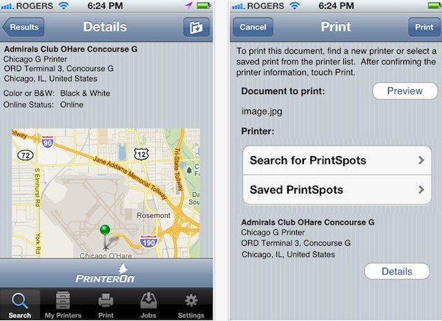 PrinterOn's iPhone app offers mobile printing to 10,000+ public printers