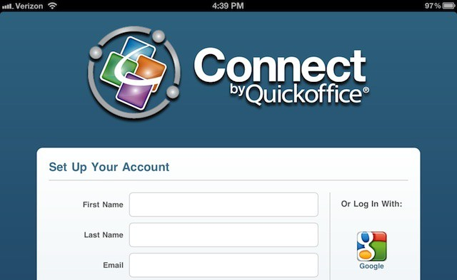 Connect by Quickoffice iPad app