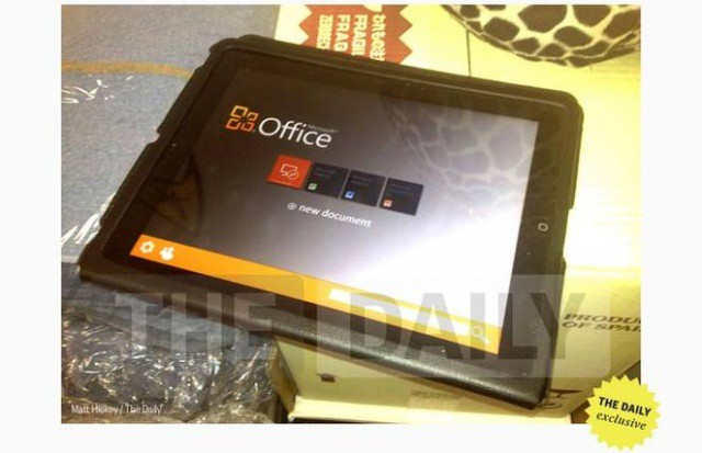 The Daily leaked a screenshot of Office on the iPad back in February 2012