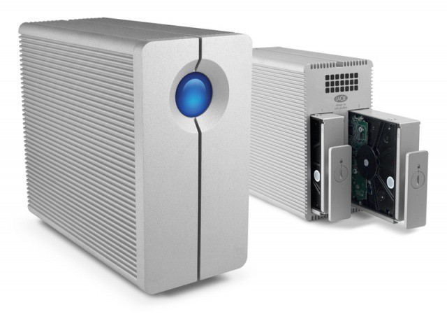 LaCie's 2big drives let you transfer files over a Thunderbolt connection.