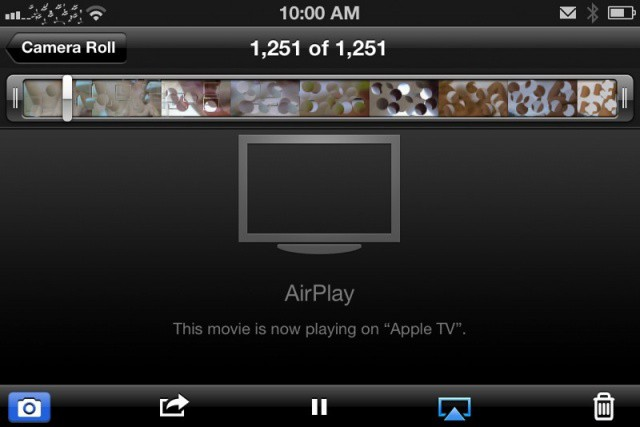 It's censored, but it's porn streaming over AirPlay.