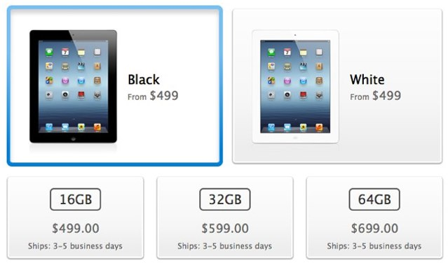 Order a new iPad today and get it shipped by this time next week.