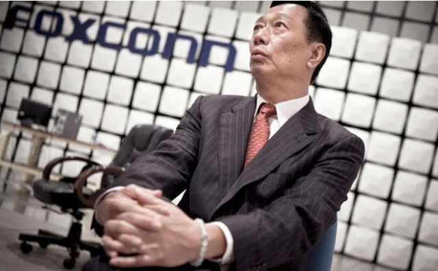 Foxconn's CEO didn't let the cat out of the bag after all.
