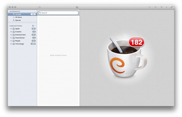 Caffeinated: a viable contendor for your new default RSS app on the Mac