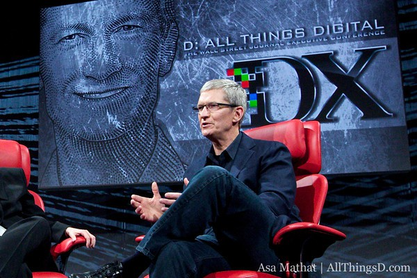 Tim Cook at the D conference last year.