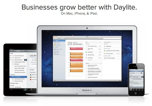 Marketcircle's Daylite is a great Mac/iOS business management platform