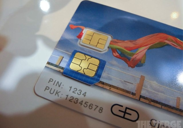 This is the nano-SIM card that will be in your future iPhones.