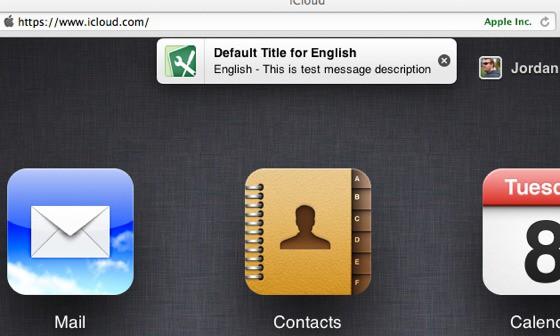 iCloud.com notifications in action
