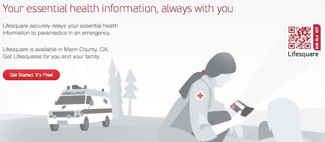 Lifesquare uses QR code stickers, iPhone app to provide emergency workers with health data