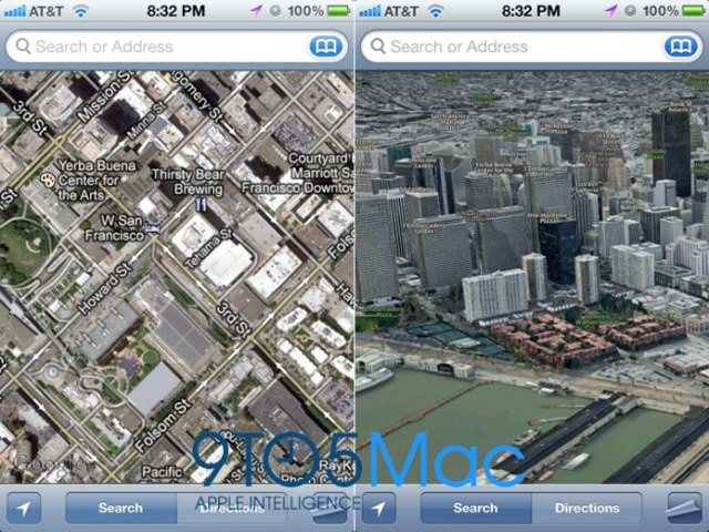 Apple's 3D maps service is expected to get its debut in iOS 6.
