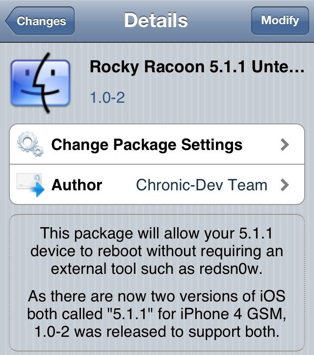 Rocky Racoon now supports Apple's revised iOS 5.1.1 release.