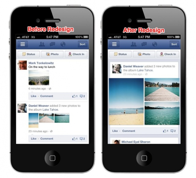 Facebook Rolling Out Improved News Feed Photo Layout To Mobile