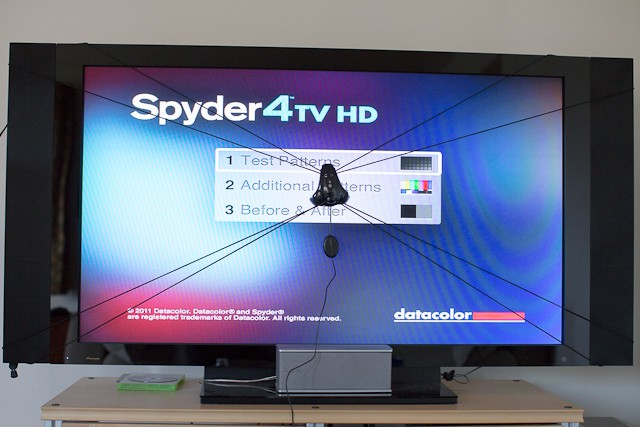 The somewhat bizarre-looking Spyder4TV Sensor