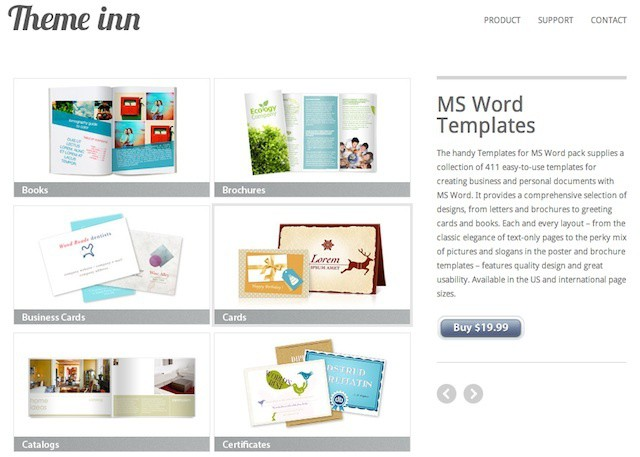 Theme Inn offers nearly 500 amazing Office for Mac templates