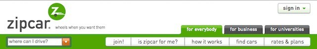 Zipcar customer interactions now come from the company's app more than its site