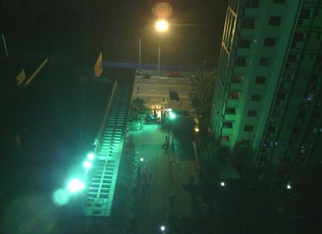Cellphone pic of Chengdu workers rioting on Monday night.