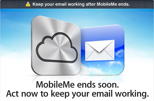 Apple's MobileMe warning Email.