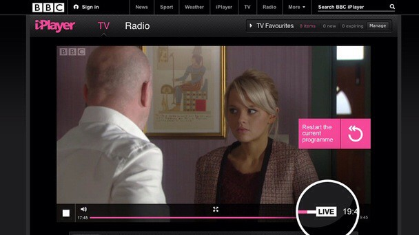 Now you can rewind live TV streams in the BBC iPlayer