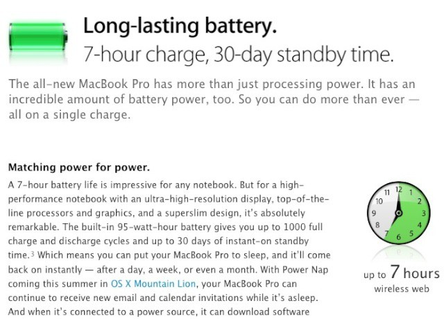 The premium battery life in the new MacBook Pro comes at a premium.