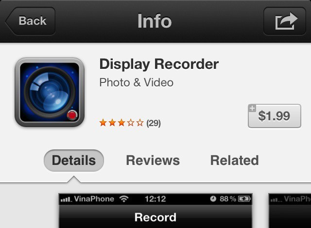 Display Recorder in the App Store is a near clone of its jailbreak counterpart.