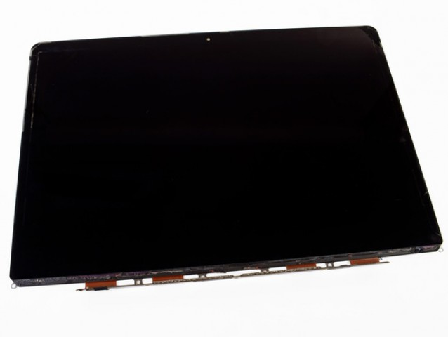 The new MacBook Pro's Retina display, without its pretty casing. Image courtesy of iFixit.