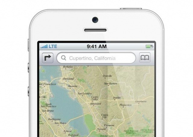 A mockup of the new Maps running on the new iPhone. (via http://vrge.co/KsZgPd)