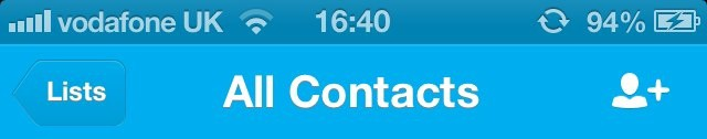 In iOS 6, the status bar changes color to match the app that's running.