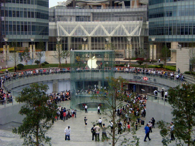 This incredible Apple store in Shanghai is one of only five Apple stores on China's mainland.