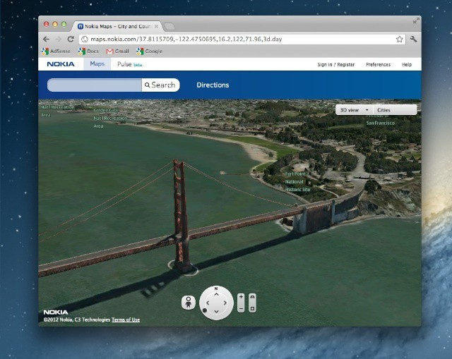Nokia's 3D Maps Are Nearly Identical To Apple's.